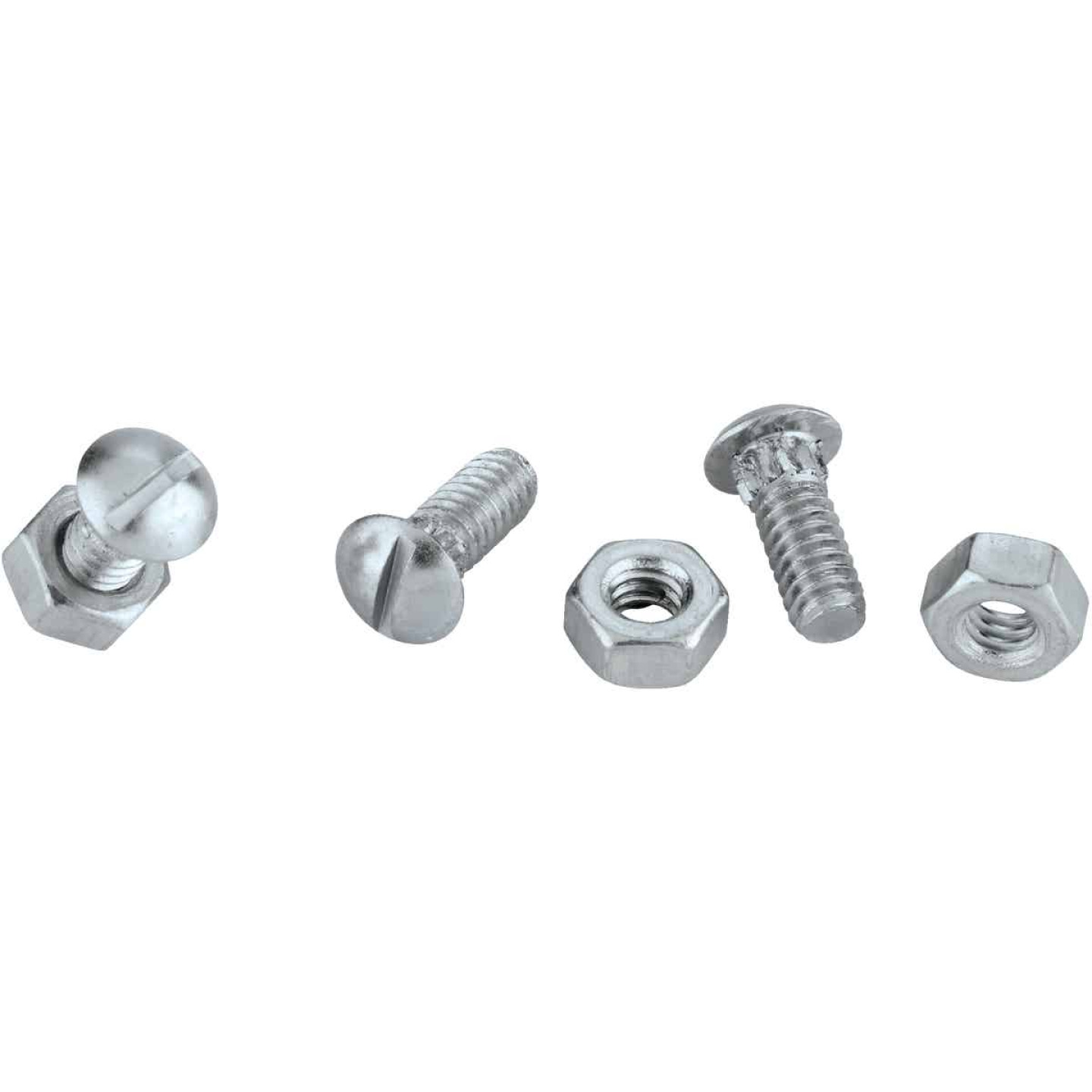 National 1/4 In. x 1/2 In. Zinc Ribbed Neck Bolt & Nut (12 Ct.) Image 3