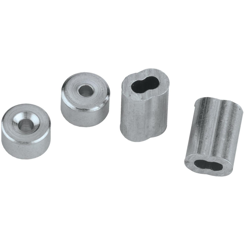 National 1/16 In. Aluminum Garage Door Ferrule & Stop Kit Image 3