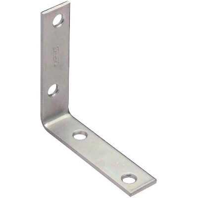 National Catalog V115 3 In. x 3/4 In. Zinc Steel Corner Brace (4-Count)