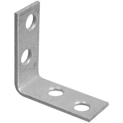 National Catalog V115 1-1/2 In. x 5/8 In. Galvanized Steel Corner Brace (4-Count)