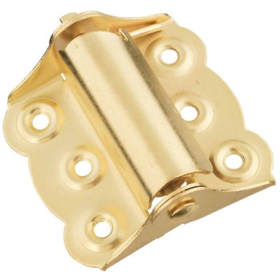 National 2-3/4 In. Brass Spring Door Hinge (2-Pack)