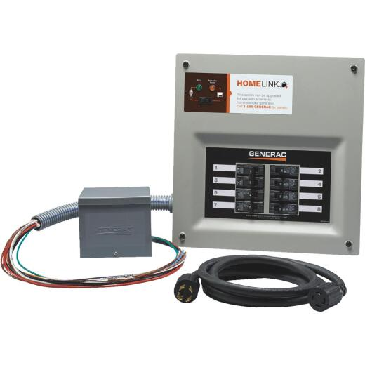 Generac Homelink 30A 8-Circuit Generator Transfer Switch