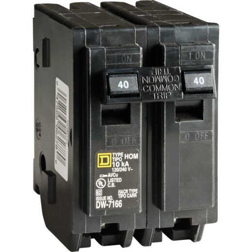 Square D Homeline 40A Double-Pole Standard Trip Circuit Breaker