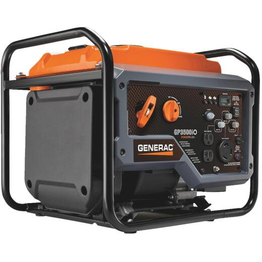 Generac GP3500iO 3000W Gasoline Powered Open Frame Recoil Pull Start Inverter Generator