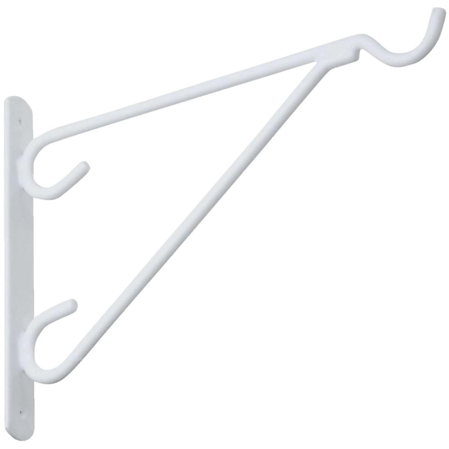 National 12 In. White Vinyl-Coated Steel Plant Hanger Bracket Image 1
