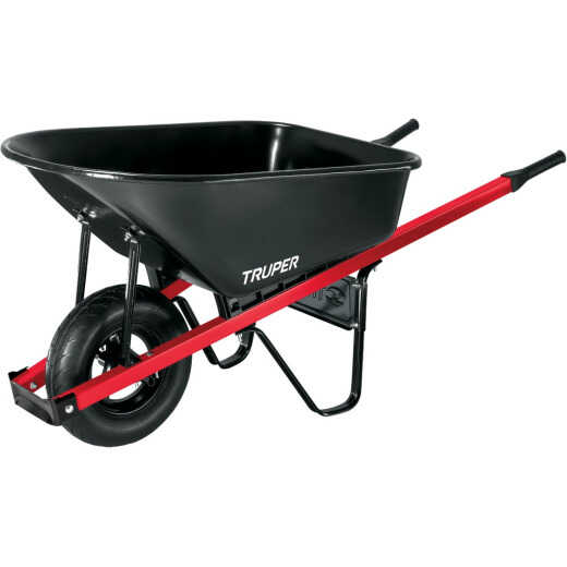 Truper 6 Cu. Ft. Steel Wheelbarrow
